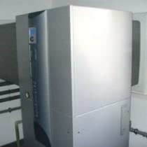 Celkový pohled na tepelné čerpadlo, sací a výfukový kanál