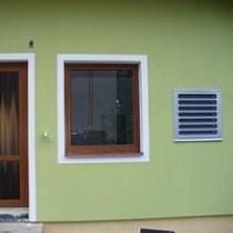 Pohled na finální fasádu rodinného domu