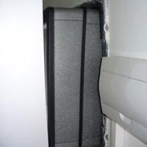 Vzduchotechnický kanál před upevněním na přístroj tepelného čerpadla