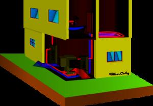 Tepelné čerpadlo vzduch/voda ve vnitřním provedení